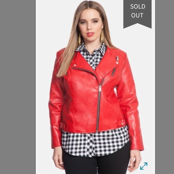 0c36e2bb554 Eloquii Faux Leather Jacket